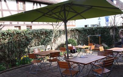 Jenefea Café Innenhof-Ansicht